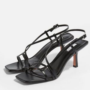 Topshop Strippy Sandals Almost New! MSRP $80.00